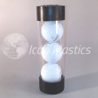 Clear Packaging Tubes - Golf Balls